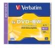 VERBATIM DVD+RW, 4,7 GB, 4x, normál tokban
