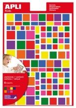 APLI etikett, forma, vegyes minták és színek