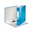 LEITZ iratrendező, A4, 50 mm, PP/PP, élvédő sínnel, lakkfényű, 180°, kék