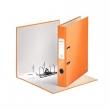 LEITZ iratrendező, A4, 50 mm, PP/PP, élvédő sínnel, lakkfényű, 180°, narancssárga