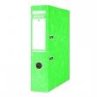 DONAU iratrendező, A4, 75 mm, karton, élvédő sínnel, Eco, zöld