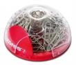 KORES gémkapocstartó, mágneses, tolltartóval, Office Bubble + 100 db kapocs
