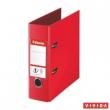 ESSELTE iratrendező, A5, 75 mm, PP/PP, élvédő sínnel, Standard, Vivida,piros