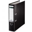 LEITZ iratrendező, A4, 80 mm, PP/karton, élvédő sínnel, 180°, fekete
