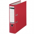 LEITZ iratrendező, A4, 80 mm, PP/karton, élvédő sínnel, 180°, piros