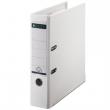 LEITZ iratrendező, A4, 80 mm, PP/karton, élvédő sínnel, 180°, fehér