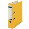 LEITZ iratrendező, A4, 80 mm, PP/karton, élvédő sínnel, 180°, sárga