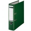 LEITZ iratrendező, A4, 80 mm, PP/karton, élvédő sínnel, 180°, zöld