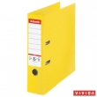 ESSELTE iratrendező, A4, 80 mm, PP/PP, élvédő sínnel, Standard Plus, Vivida, sárga