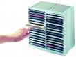 FELLOWES CD-tároló, 30+18 db-os, automata kiemelő rendszerű, szürke