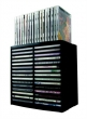 FELLOWES CD-tároló, 30+18 db-os, automata kiemelő rendszerű, fekete