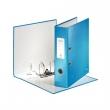 LEITZ iratrendező, A4, 80 mm, PP/PP, élvédő sínnel, lakkfényű, Wow, 180°, kék