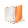 LEITZ gyűrűskönyv, A4, 40 mm, 2 gyűrűs, karton, lakkfényű, narancs