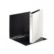 LEITZ gyűrűskönyv, A4, 40 mm, 2 gyűrűs, karton, lakkfényű, fehér