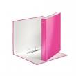 LEITZ gyűrűskönyv, A4, 40 mm, 2 gyűrűs, karton, lakkfényű, rózsaszín