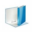 LEITZ gyűrűskönyv, A4, 40 mm, 2 gyűrűs, karton, lakkfényű, kék