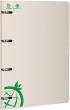 ICO gyűrűskönyv, A4, 35 mm, 4 gyűrűs, karton, Green, zöld