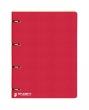 ICO gyűrűskönyv, A4, 35 mm, 4 gyűrűs, karton, Student, bordó