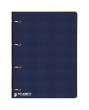 ICO gyűrűskönyv, A4, 35 mm, 4 gyűrűs, karton, Student, kék