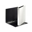 LEITZ gyűrűskönyv, A4, 40 mm, 4 gyűrűs, D alakú, karton, lakkfényű, Wow, fehér