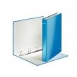 LEITZ gyűrűskönyv, A4, 40 mm, 4 gyűrűs, D alakú, karton, lakkfényű, Wow, kék