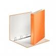 LEITZ gyűrűskönyv, A4, 40 mm, 4 gyűrűs, D alakú, karton, lakkfényű, Wow, narancs