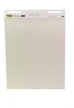 3M POSTIT flipchart papír, 63,5x77,5 cm, 30 lap, öntapadó, Meeting Chart, fehér
