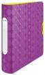 LEITZ gyűrűskönyv, A4, 52 mm, 4 gyűrűs, D alakú, PP, Active Retro Chic, lila