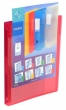VIQUEL gyűrűskönyv, A4, 25 mm, 4 gyűrűs, PP, panorámás, Propyglass, piros