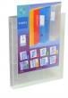 VIQUEL gyűrűskönyv, A4, 25 mm, 4 gyűrűs, PP, panorámás, Propyglass, víztiszta