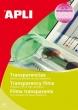 APLI írásvetítő fólia, A4, kézzel írható