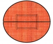VICTORIA körtárgyaló, 150x75 cm, lalplábas, alma