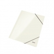 LEITZ gumis mappa, A4, 15 mm, karton, lakkfényű, Wow, fehér