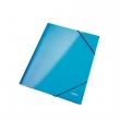 LEITZ gumis mappa, A4, 15 mm, karton, lakkfényű, Wow, kék