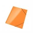 LEITZ gumis mappa, A4, 15 mm, karton, lakkfényű, Wow, narancssárga