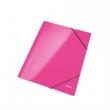 LEITZ gumis mappa, A4, 15 mm, karton, lakkfényű, Wow, rózsaszín