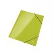 LEITZ gumis mappa, A4, 15 mm, karton, lakkfényű, Wow, zöld