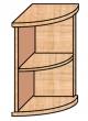 VICTORIA szekrény, 2 polcos, nyitott, magas, sarok, 38x75x38 cm, bükk