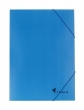 VICTORIA gumis mappa, A4, karton, kék