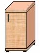 VICTORIA szekrény, egyajtós, 2 magas polcos, 38x75x38 cm, bükk