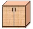 VICTORIA szekrény, 2 magas polcos, kétajtós, 75x75x38 cm, bükk