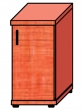 VICTORIA szekrény, egyajtós, 2 magas polcos, 38x75x38 cm, alma