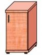 VICTORIA szekrény, egyajtós, 2 magas polcos, 38x75x38 cm, cseresznye