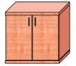 VICTORIA szekrény, 2 magas polcos, kétajtós, 75x75x38 cm, cseresznye