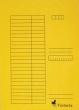 VICTORIA okmánytartó, A4, karton, sárga
