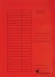 VICTORIA okmánytartó, A4, karton, piros