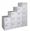 VICTORIA függőmappa tárolószekrény, 4 fiókos, szürke