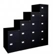 VICTORIA függőmappa tárolószekrény, 4 fiókos, fekete