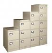VICTORIA függőmappa tárolószekrény, 4 fiókos, bézs