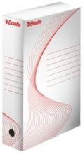 ESSELTE archiváló doboz, A4, 80 mm, karton, Standard, fehér